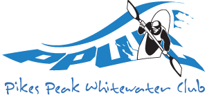 pikes peak whitewater club logo. click here to go to home page.